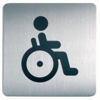 """Cartello d'informazione design quadrato """"Disabili"""""""