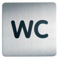 Cartello d'informazione design quadrato - WC