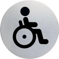 """Cartello d'informazione design rotondo """"Disabili"""""""