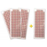 "Pack da 4 tavole di pittogrammi CLP ""Tossico acuto"" (3+1 gratuita) - GHS06"