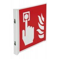 """Cartelli a bandiera e tridimensionali ISO 7010 """"Allarme antincendio"""" - F005"""