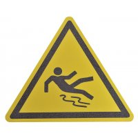 """Pittogramma antiscivolo per pavimento """"Pericolo superficie scivolosa"""""""