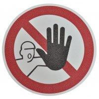 """Pittogramma antiscivolo per pavimento """"Accesso vietato alle persone non autorizzate"""""""