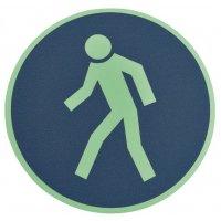 """Pittogramma antiscivolo per pavimento """"Pedoni, utilizzate questo passaggio"""""""