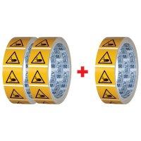 """Pack da 3 rotoli di pittogrammi ISO 7010 """"Pericolo schiacciamento mani"""" - W024 (2+1 gratuito)"""