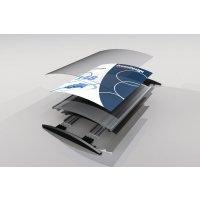 Segnaletica interna modulo classico piano o convesso in alluminio