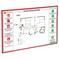 Cornice in alluminio per norme e istruzioni per l'evacuazione