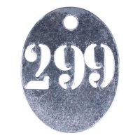 Piastrine di marcatura con numerazione personalizzata in metallo traforato