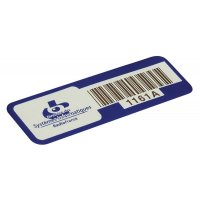 Etichette di proprietà SetonGuard® con codice a barre in alluminio anodizzato