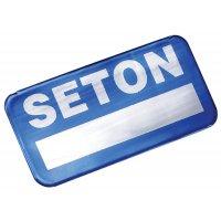 Etichette di proprietà SetonGuard® per superfici curve in alluminio