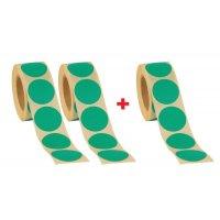 2 rotoli di bollini neutri Ø 35 mm + 1 gratuito