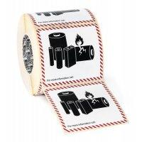 """Etichette adesive per imballaggio - """"Batterie / pile al litio"""""""