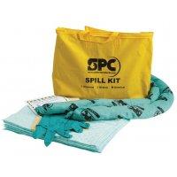 Kit di assorbenti per prodotti chimici con borsa di trasporto