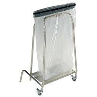 Supporto per sacchi della spazzatura con apertura a pedale e ruote