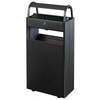 Posacenere con cestino su colonna per uso esterno