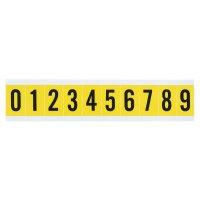Cifre e lettere in tessuto plastificato in serie parziali