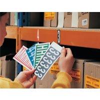 Cifre e lettere adesive colorate in tessuto plastificato