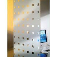 Pellicole decorative adesive per vetri a bande e motivi bianchi o opachi