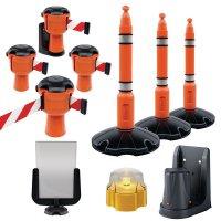 Kit Skipper™ con paletti, supporto pannello e lampada di sicurezza