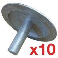 Kit di 10 chiodi stradali in metallo di cui 2 omaggio