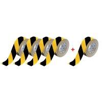 Confezione da 4 rotoli per segnaletica orizzontale Toughstripe™ + 1 omaggio