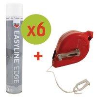 Kit di 6 spray di vernice  Easyline® + 1 tracciatore con avvolgitore omaggio