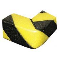Paraspigoli in schiuma di polietilene nero e giallo