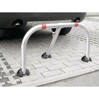 Barriera da parcheggio con calotte di protezione