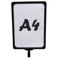 Supporto porta pannelli A4 per paletti