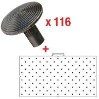 Prezzo Speciale - Kit da 116 chiodi podotattili + 1 sagoma di posa