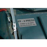 Etichette di identificazione metallizzate tipo targhetta ziendale - per etichettatrice BMP71