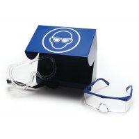 Contenitore per occhiali protettivi in acciaio laccato