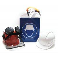 Contenitore per casco di sicurezza in acciaio laccato