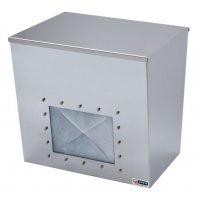 Distributore per maschere respiratorie a conchiglia in acciaio inox