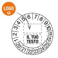 Bollini datario adesivi personalizzati online