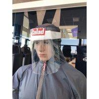 Visiera di protezione con fascia in schiuma poliuretanica