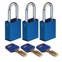 Lucchetti per lockout Safekey in alluminio