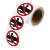 Adesivi riposizionabili in rotolo - Non sedersi qui