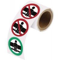 Adesivi riposizionabili in rotolo - Non sedersi qui / Sedersi qui