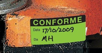 Etichette di controllo in carta fluorescente personalizzabili online