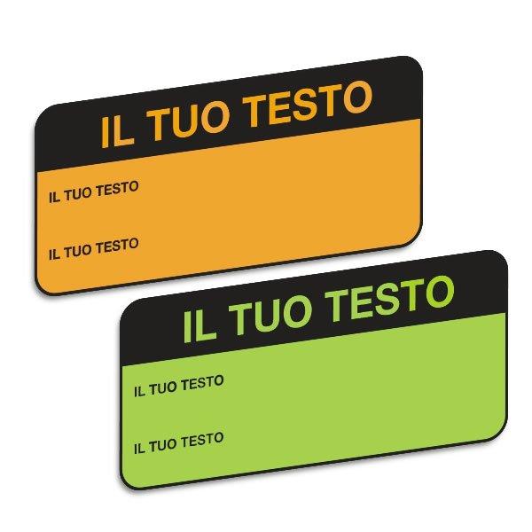 Etichette di controllo in carta fluorescente personalizzabili online - Etichette per ispezione