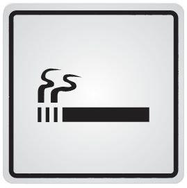 Cartello d'informazione adesivo in acciaio Autorizzazione a fumare