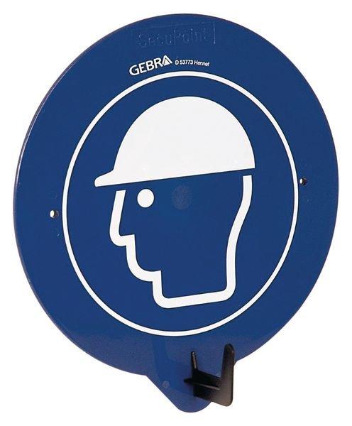 Gancio per DPI con pittogramma Casco di protezione obbligatorio