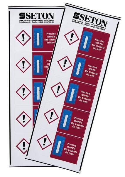 Indicatore di tempo - Gestione prodotti pericolosi - Seton