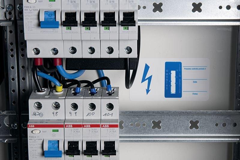 Indicatore di tempo - Apparecchiature elettriche - Etichette di ispezione