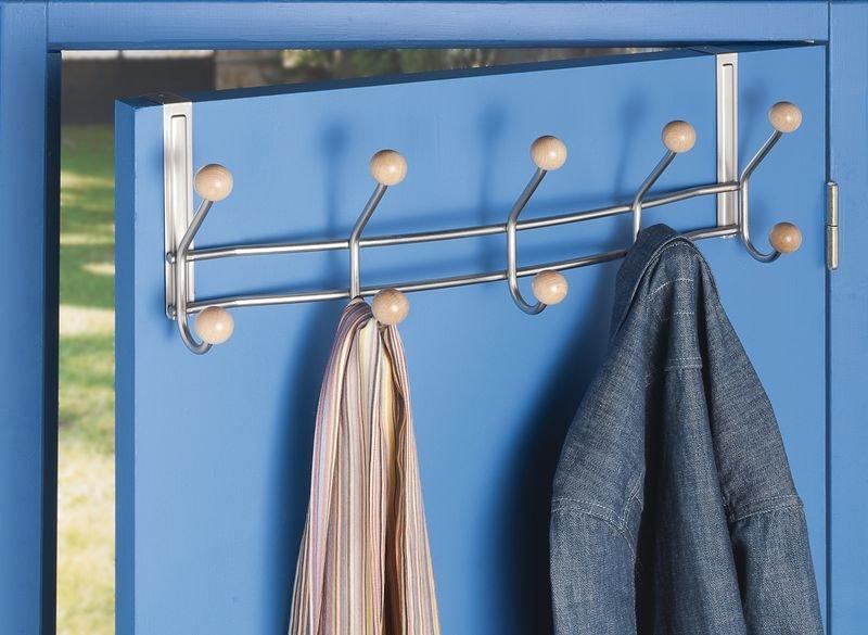 Appendiabiti standard per porta in metallo e legno - Seton