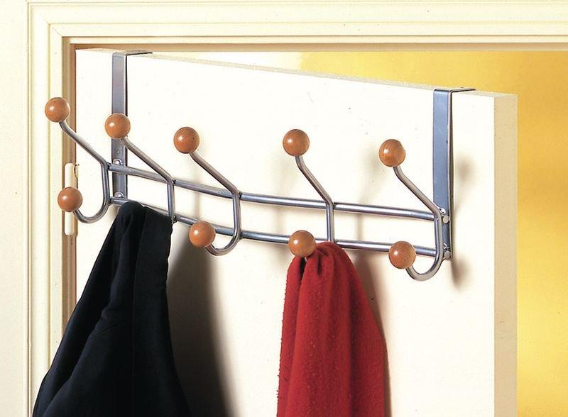 Appendiabiti standard per porta in metallo e legno - Appendiabiti per officine e aziende