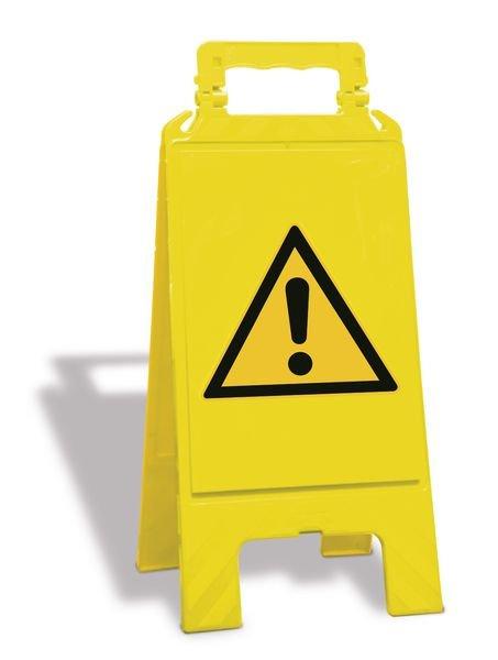 Cavalletto di segnalazione Pericolo Generico EN ISO 7010 - W001