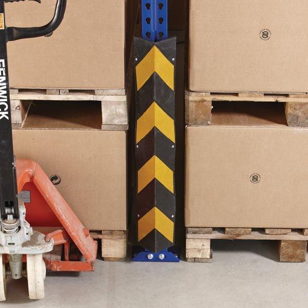 Protezione angolare per montanti di scaffali in caucciù - Seton