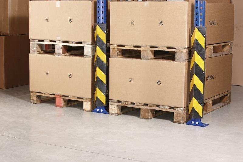 Protezione angolare per montanti di scaffali in caucciù - Protezioni per scaffalature